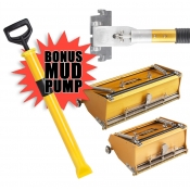 "Tapetech Flat Box Package 7"", 10"", Handle + FREE MUD PUMP"