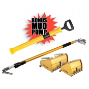 "TapeTech Power Assist Flat Box Package  7"" & 10""  & Extendable Handle + FREE MUD PUMP"