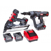 Senco Cordless Finish Nail Gun FN65DA + Auto-Feed Screwgun SKIN DS215-18V Kit