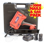Spear & Jackson Framing Gun with Case 3000 Nails Gas, Gas Fueled 50-82mm SJ-GFKL1