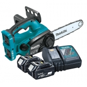 Makita Cordless Chainsaw 18v LXT Brushless + Charger & 2x 5.0Ah Batteries XCU02