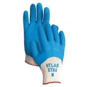 Atlas Xtra HalfBack Coated Rubber Gloves 6 Pack Large