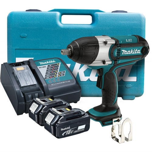 Makita Impact Wrench Kit + 2x 5 0Ah Batteries Charger Case DTW450
