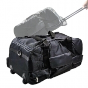 Tool Bag With Wheels + Handle BLACK Suits 6-8 Piece Cordless Kits BAG-BLK