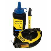 Stanley Chalk Line 30m Layout Set with Chalk and Marker 47-681