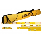 Stabila Level Package 5x Box Spirit Levels and 1x 5 Pocket Carry Bag