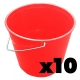 Plastic Buckets  10ltr Durable Soft Trademan  x10