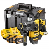 DeWALT Rotary Hammer Kit 54V 30MM 2x Batteries 9AH Fast Charger SDS Plus DCH333X2