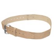 McGuire Nicholas 960 2-Inch Roller Buckle Belt Tan Saddle Leather