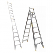 Bailey Ladder 2.4m - 4.4m 150kg 8 Step Pro Dual Purpose PUNCHLOCK FS13397