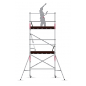 Intex Scaffold Tower Kit Folding Industrial Rated Aluminium 225kg SPAK200