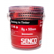 Senco Collated Screws 8g x 50mm Decking Floor To Timber 1000 PACK 08R50MWTA