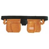 Spear & Jackson Tool Apron Nail Bag 11 Pocket Leather Builders SJ-LPSL11
