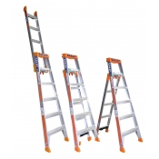 Bailey Ladder SLS 3-In-1 6 Step Leaning Straight 1.8-2.9m Aluminium FS13862