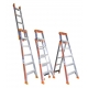 Bailey Ladder SLS 3-In-1 8 Step Leaning Straight 2.4-4.1m Aluminium FS13864