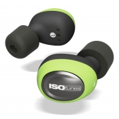 ISOtunes Noise-Isolating Earbuds Free True Wireless Bluetooth 5.0 Green IT-14