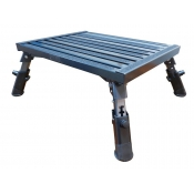 Supex Caravan Step Metal Adjustable Folding 480mm x 370mm 300kg Load STP4