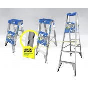 TradeMark Ladder Double Sided 6ft 1.8m 6 Step 175kg Safety Punch LA11