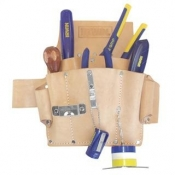 Irwin 6 Pocket Saddle Leather Electrician's Tool Pouch