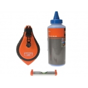 Bahco Blue Chalk  Line  Level Set   Blue Chalkline  Level