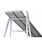 Aluminium Builders Planks With Rubber Strips 2m PL020R