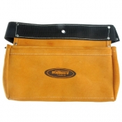 Wallboard Suede Leather Nail Bag 310x200mm 2 Pocket BT-99-2