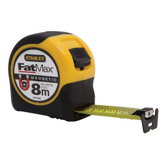 stanley fatmax magnetic 8m metric tape measure fmht33869