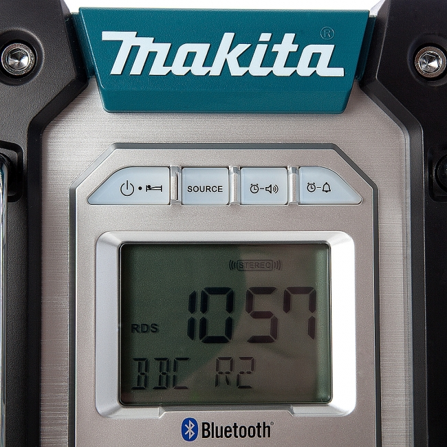 makita 18v lxt li ion cordless jobsite radio with. Black Bedroom Furniture Sets. Home Design Ideas